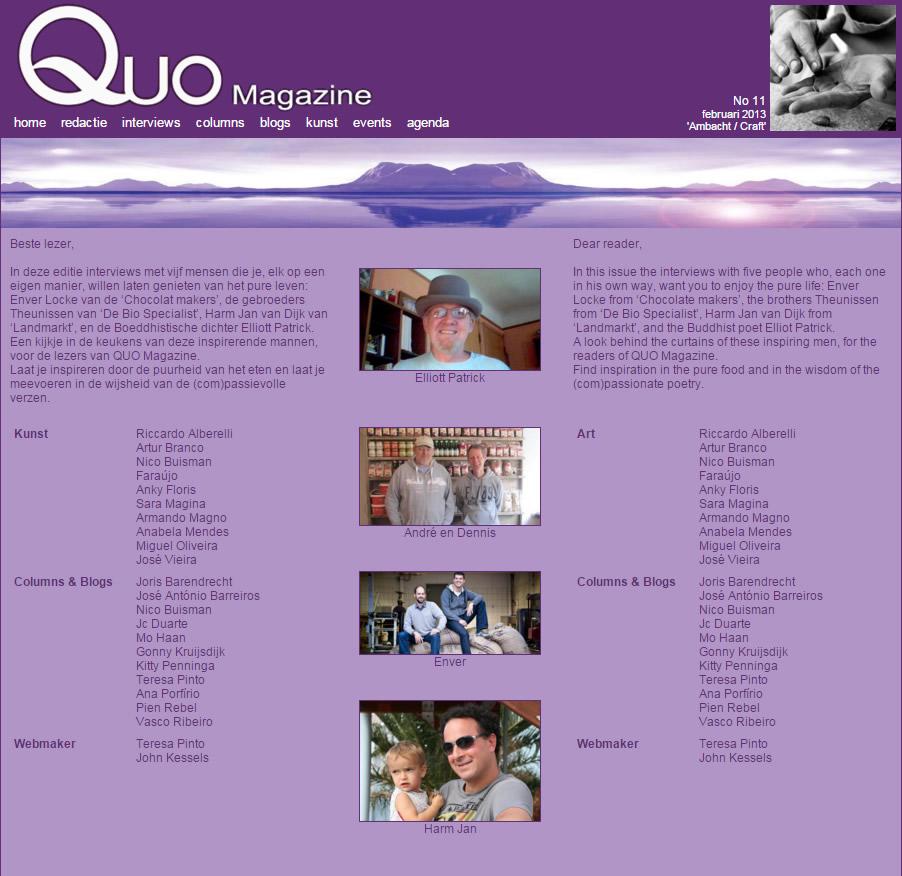 Klik voor het huidige QUO Magazine